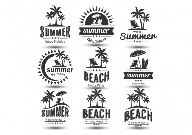Verschiedene Logo Arten