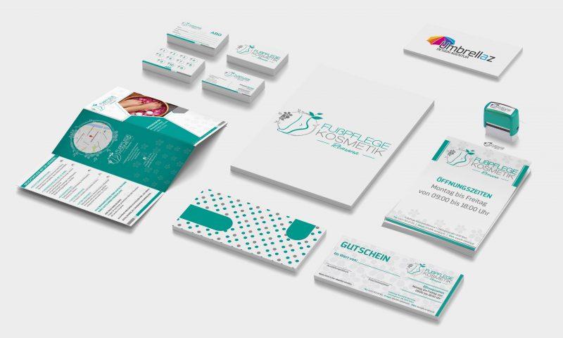 Stempelkarten • Visitenkarten • Faltbroschüre • Logo • Kuvert • Stempel • Terminzettel • Gutscheine